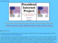 President Internet Project Lesson Plan