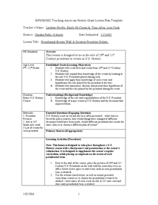 Presidential Events Wall and Greatest Presidential Debate Lesson Plan