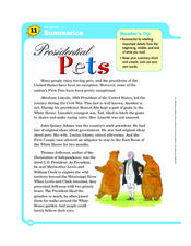 Presidential Pets Worksheet