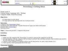 Prewriting 2 Getting Ideas Lesson Plan