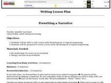 Prewriting a Narrative Lesson Plan