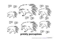 Prickly Porcupines Worksheet