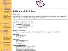 Pride in a Job Well Done Lesson Plan