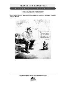 "Primary Source Worksheet: John T. McCutcheon, ""A Wise"