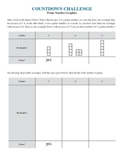 Prime Number Graphics Worksheet