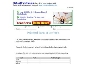 Principal Parts of the Verb Worksheet