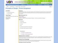 Principles of Design - Picture Assignment Lesson Plan