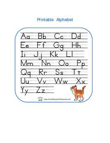 Printable Alphabet Lesson Plan