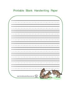 Printable Blank Writing Paper-- Dog Pack Lesson Plan