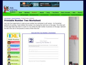 Printable Number Two Worksheet Worksheet