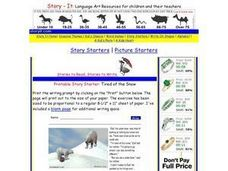 Printable Story Starter: Tired of the Snow Worksheet