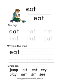 Printing: eat Worksheet