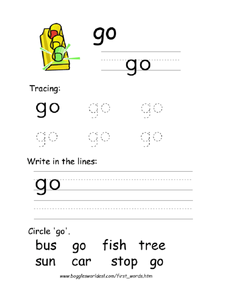 Printing: go Worksheet