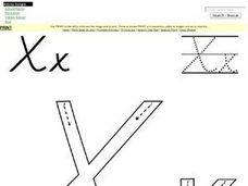 Printing Letter X Worksheet