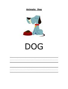 Printing Practice - DOG Worksheet
