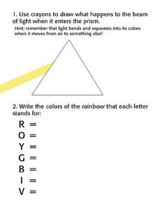 Prism and Light Worksheet
