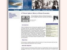 Private Sphere: History of Home Economics Lesson Plan