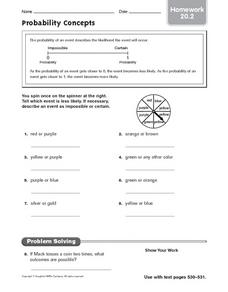 Probability Concepts Worksheet