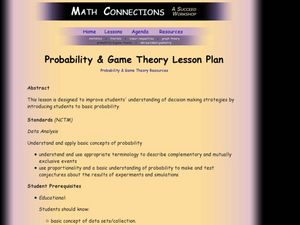 Probability & Game Theory Lesson Plan