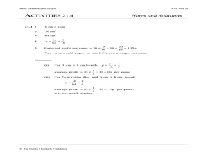 Probability of One Event Worksheet