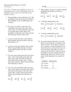 Probability Worksheet
