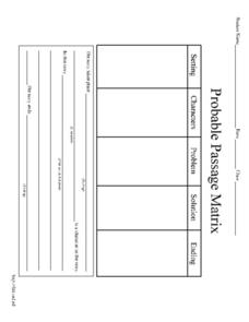 Probable Passage Matrix Worksheet