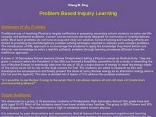 Problem Based Inquiry Learning Lesson Plan