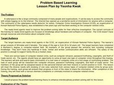 Problem Based Learning Lesson Plan