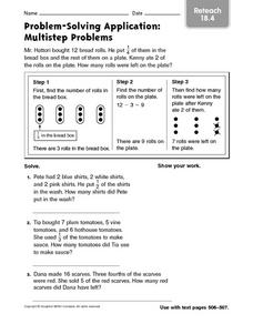 Problem-Solving Application: Multistep Problems Worksheet