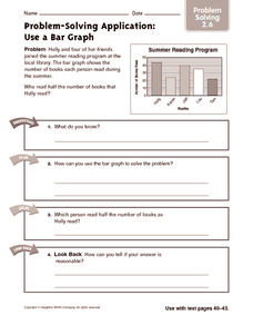 Problem-Solving Application: Use a Bar Graph Worksheet