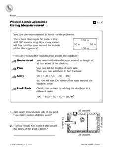 Problem-Solving Application: Using Measurement Worksheet