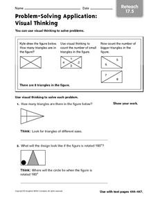 Problem-Solving Application: Visual Thinking Reteach 17.5 Worksheet