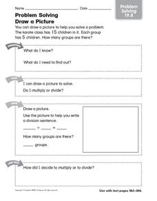 Problem Solving: Draw a Picture: Problem Solving Worksheet
