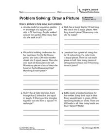 Problem Solving: Draw a Picture Worksheet