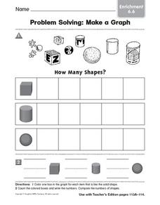 Problem Solving: Make a Graph 2 Worksheet