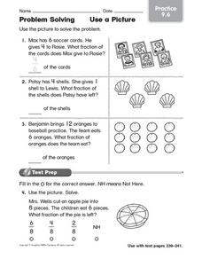 Problem Solving Practice: Use a Picture Worksheet