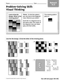 Problem-Solving Skill: Visual Thinking: Reteach Worksheet