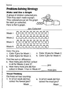 Problem Solving Strategy: Make and Use a Graph Worksheet