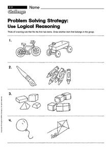 Problem Solving: Use Logical Reasoning  challenge Worksheet