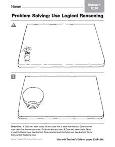 Problem Solving: Use Logical Reasoning: Reteach Worksheet