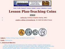 Problem Solving Using Coin Identity and Coin Value Lesson Plan