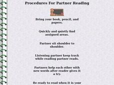 Procedures For Partner Readers Lesson Plan