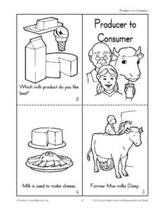 Producers to Consumer - Milk and Trees Worksheet