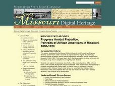 Progress Amidst Prejudice:  Portraits of African Americans in Missouri, 1880-1920 Lesson Plan