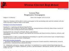 Progressive Newspapers Lesson Plan