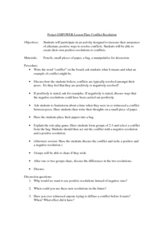 Project EMPOWER: Conflict Resolution Lesson Plan