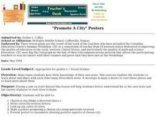 """Promote A City"" Posters Lesson Plan"
