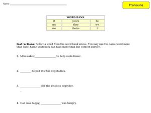 Pronoun Practice 9 Worksheet