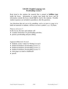 Proofreading Lesson 7 Lesson Plan