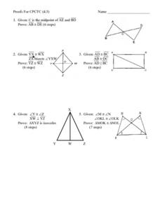 Proofs of Figures Worksheet